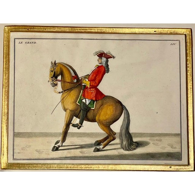 Four Engravings of Horse Riders Le Soldat, Le Grand, Le Diligent, L' Enjoue For Sale - Image 9 of 12
