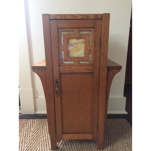1930s Antique Mission Arts & Crafts Side Table Cabinet - Image 2 of 9