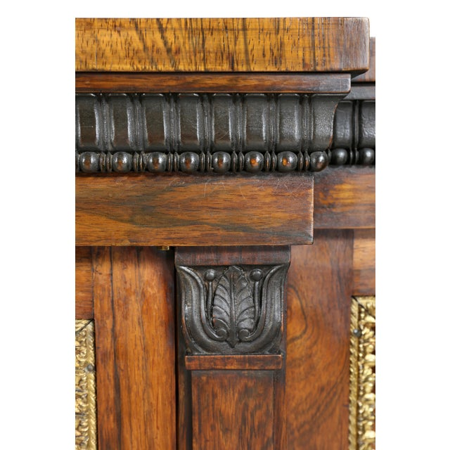 Metal Regency Rosewood, Ebonized and Bronze Mounted Credenza or Cabinet For Sale - Image 7 of 13
