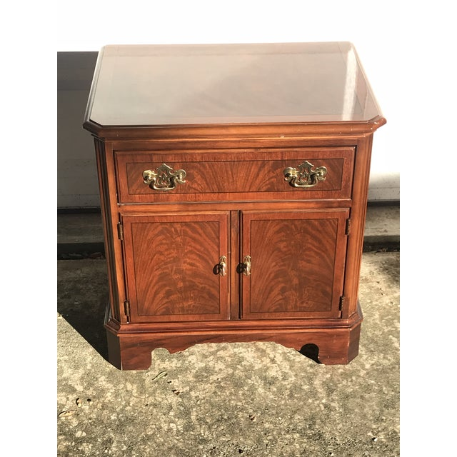 Drexel Heritage Chippendale Cherry Wood Nightstand For Sale - Image 9 of 10
