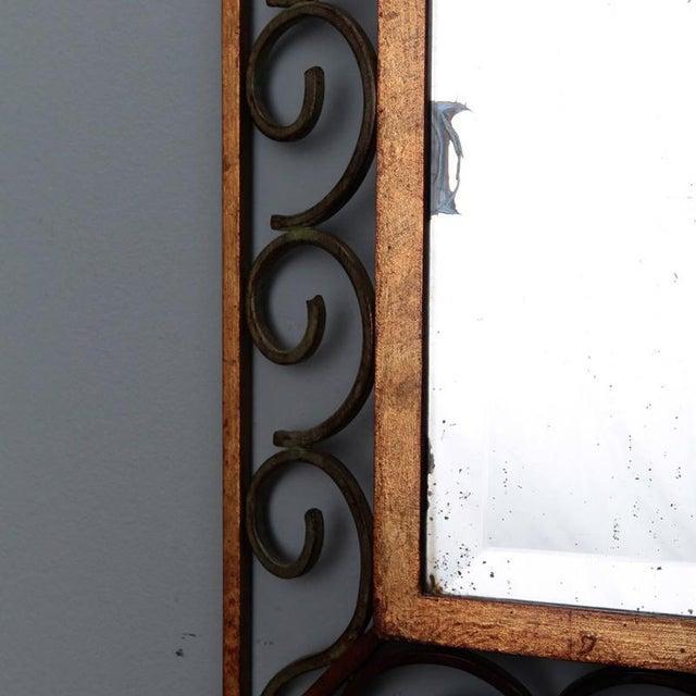 1930s Art Deco Gilt Iron Framed Rectangular Mirror For Sale - Image 5 of 7