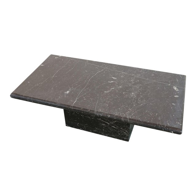 20th Century Art Deco Black Marble Coffee Table For Sale
