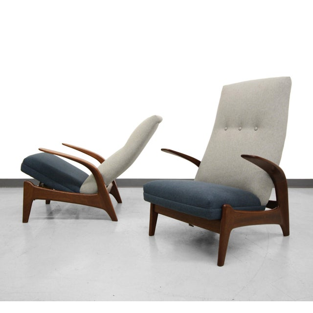 Vintage Gimson & Slater Reclining Lounge Chairs - A Pair - Image 2 of 7