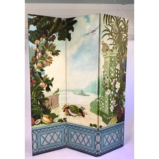 Maitland Smith Handpainted 3-Panel Screen Preview