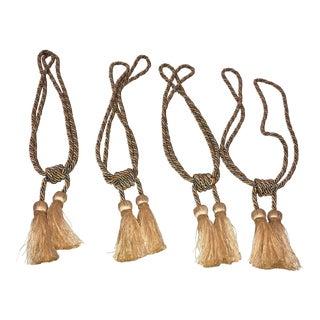 Samuel & Sons Silk Drapery Tie Back Tassels - Set of 4 For Sale