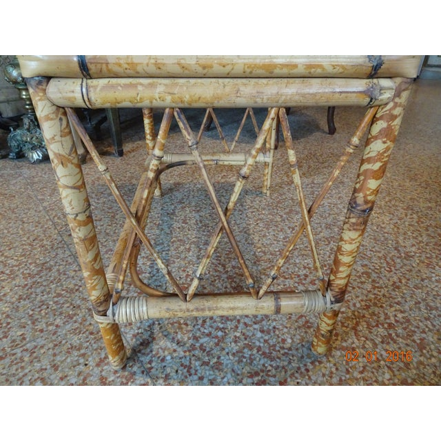 Bamboo Pair of Vintage French Bamboo Tables For Sale - Image 7 of 10