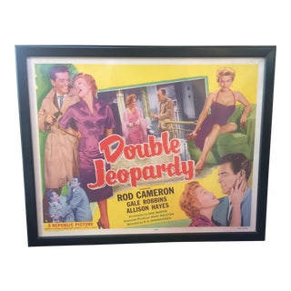 "1956 ""Double Jeopardy"" Vintage Movie Poster"