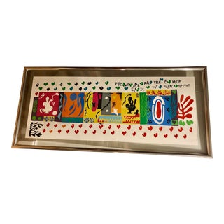 Henry Matisse Signed Mid-Century Modern Framed Lithograph For Sale