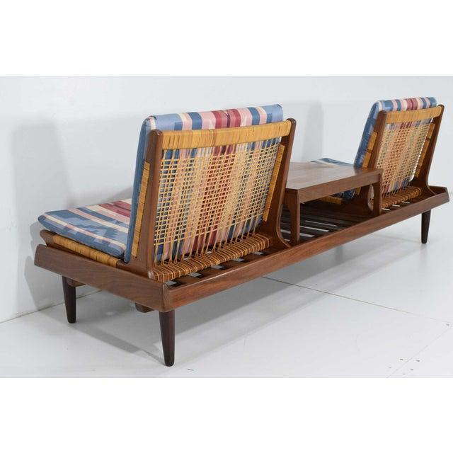 Wood 1950s Vintage Modular Bench Model 161 Designed by Hans Olsen for Bramin For Sale - Image 7 of 13