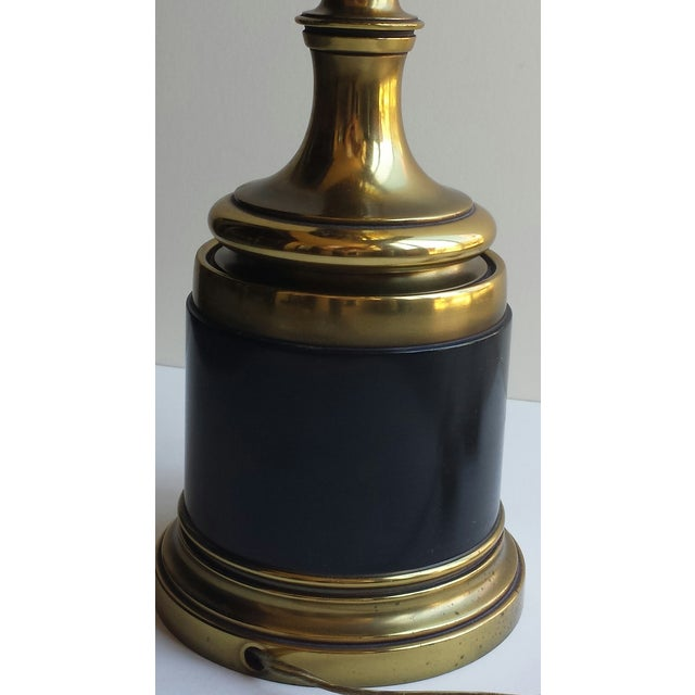 Stiffel Torchiere Lamp Brass & Hunter Green Trophy Lamp - Image 4 of 8