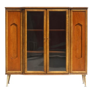 Mid-Century Modern Danish Walnut Cabinet For Sale