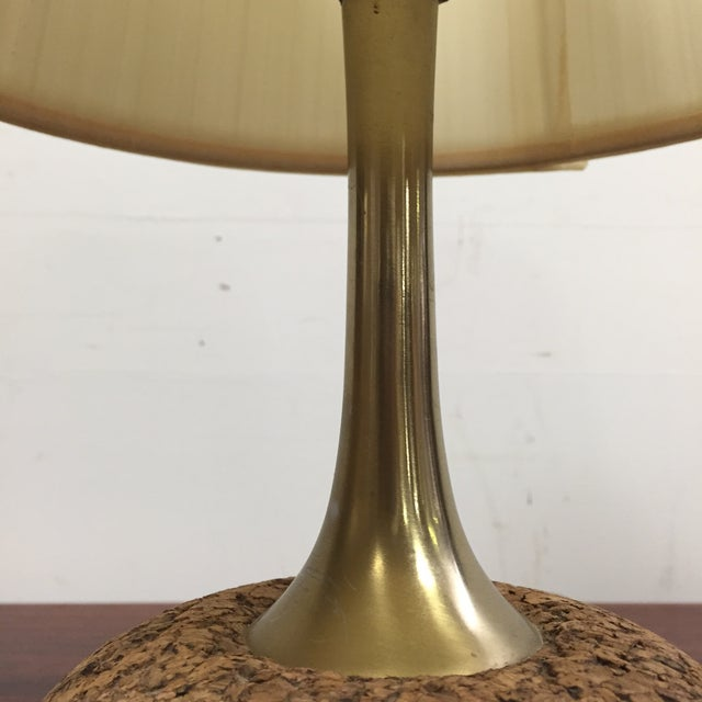 Cork & Brass Table Lamp - Image 5 of 6