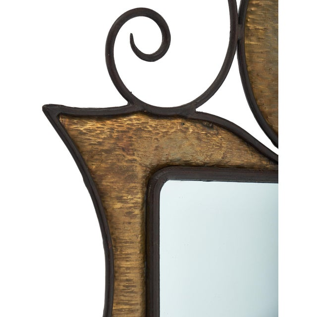 1940s French Art Nouveau Wall Mirror For Sale - Image 5 of 10