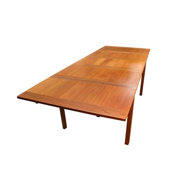 Danish Modern Teak Extendable Dining Table Vejle Stole Møbelfabrik For Sale - Image 9 of 11