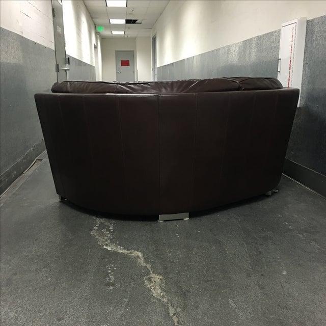 Leather Arc Sofa - Image 9 of 9