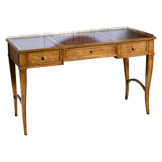 Vintage French Style Brass Gallery Writing Desk by Milling Road for Baker For Sale - Image 13 of 13