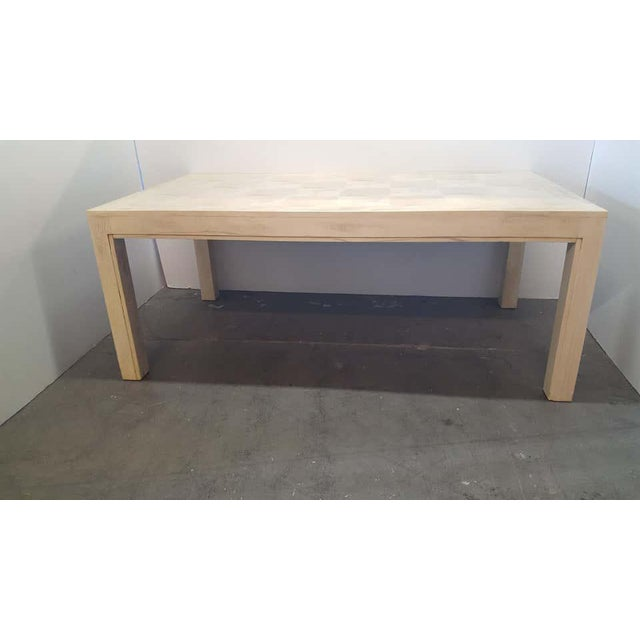 Contemporary Mid 20th Century Restored Parsons Dining Table For Sale - Image 3 of 12