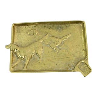 Antique Hunting Dog Ashtray For Sale