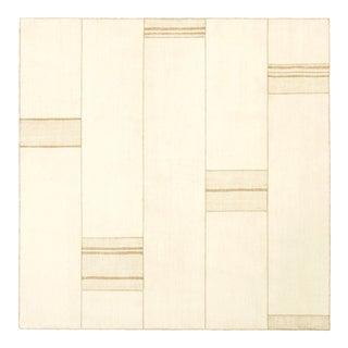 Mid 20th Century Vintage Kilim Composition Rug- 6′8″ × 6′8″ For Sale