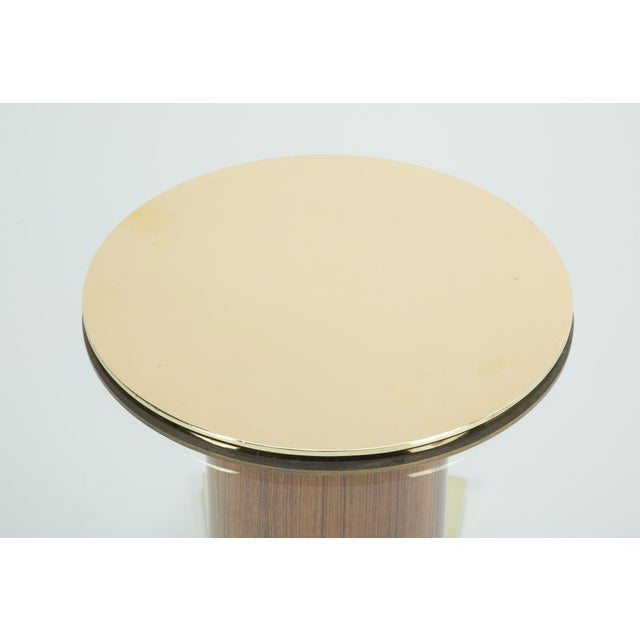 Jules Leleu Mahogany, Bronze and Glass Coffee Table For Sale - Image 11 of 13