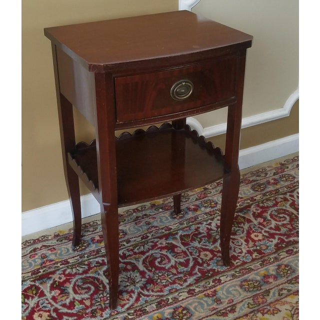 Rway Northern Furniture Co Mahogany Sheraton Style Bedroom Nightstand - Image 2 of 8