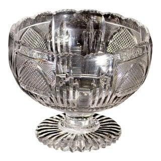 19th Century Anglo-Irish Glass Centre Bowl