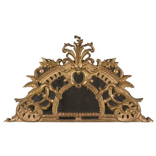 18th Century French Gilded Demilune Mirror For Sale