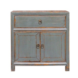 Charming Slate Gray Nightstand For Sale