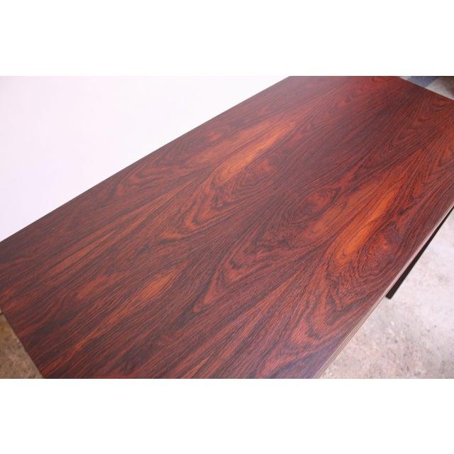 Diminutive Danish Modern Rosewood Desk by EJM Skive For Sale - Image 9 of 12