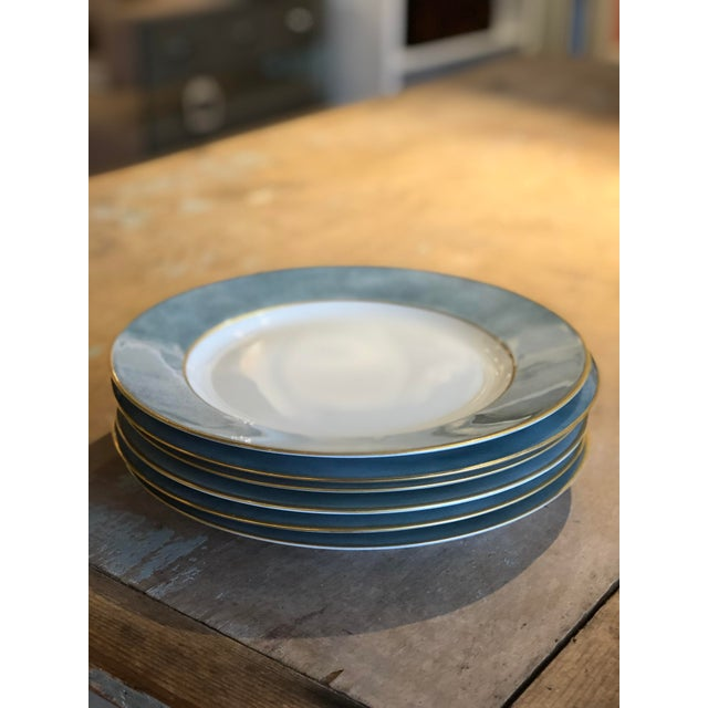 Sky Blue Set of Six Galuchat Plates by Manuel Canovas for Puiforcat For Sale - Image 8 of 13