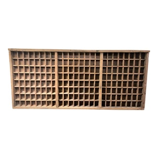 19th Century Industrial Printer Block Tray Wall Display For Sale
