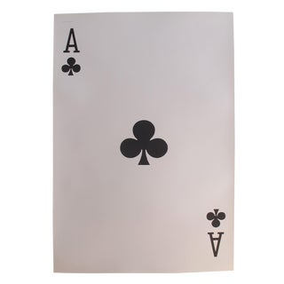 1967 Original Vintage Playing Card Poster, Ace of Clubs