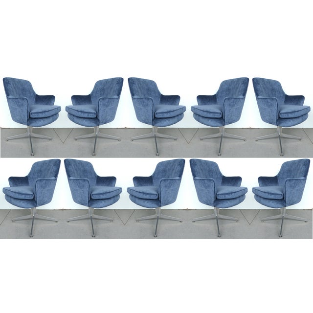 Ward Bennett Mid-Century Armchairs - Set of 10 - Image 2 of 9