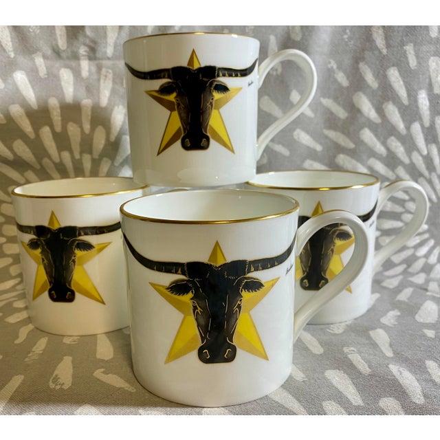 1986 Vintage Longhorn Steer & Star Boehm Mugs - Set of 4 For Sale - Image 12 of 12