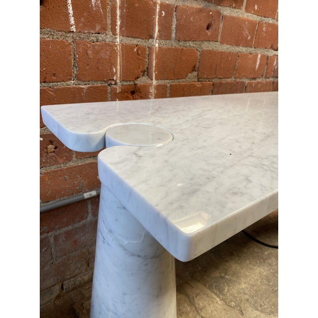 1971 Angelo Mangiarotti Eros White Carrara Marble Console Table For Sale In Los Angeles - Image 6 of 10
