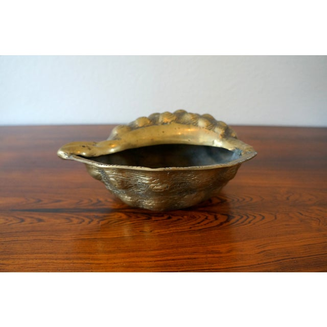 Vintage Brass Shell Planter - Image 5 of 5