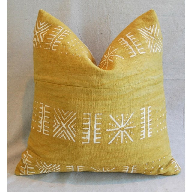 Handwoven Gold & Cream Tribal Down & Feather Pillow - Image 2 of 6