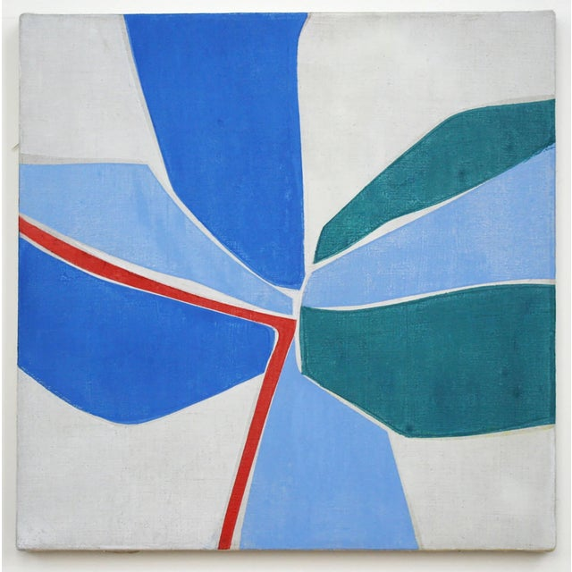 """Joanne Freeman Untitled #6, 2019 oil on linen 18 x 18 in. """"My drawings and paintings utilize geometry and are influenced..."""