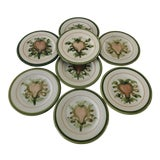 Image of Vintage Louisville Kentucky Stoneware Set of 8 Plates For Sale