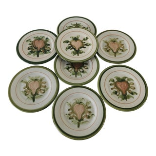 Vintage Louisville Kentucky Stoneware Set of 8 Plates For Sale