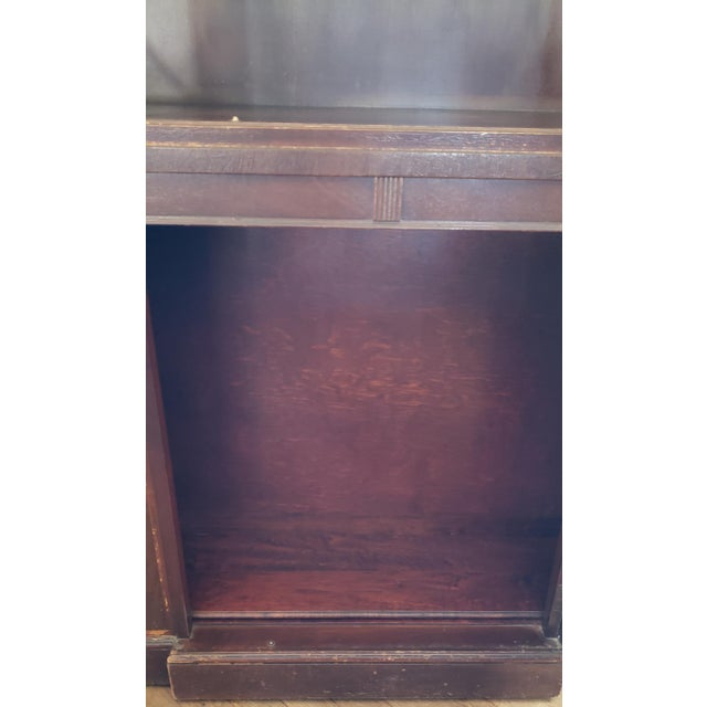 20th Century Gothic Mahogany China Cabinet For Sale - Image 9 of 12