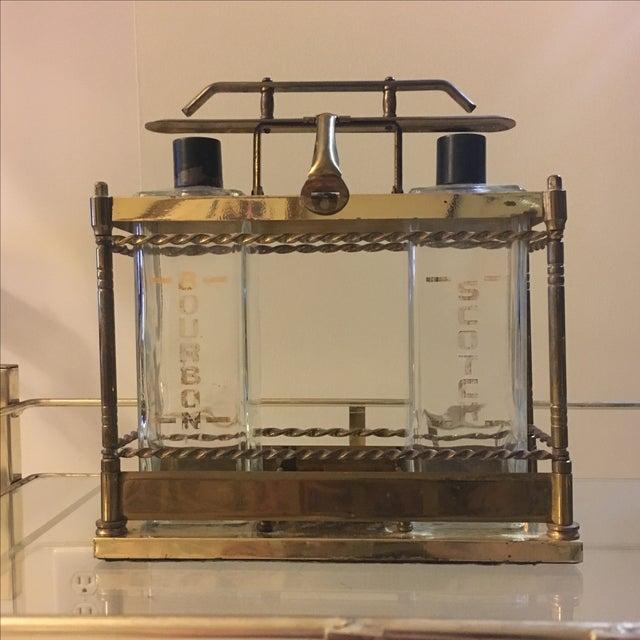 Brass Bar Scotch & Bourbon Decanter Set - Image 3 of 6