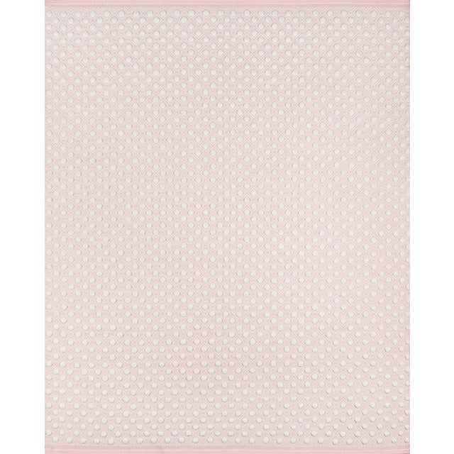 """Textile Erin Gates by Momeni Langdon Windsor Pink Hand Woven Wool Area Rug - 3'9"""" X 5'9"""" For Sale - Image 7 of 7"""