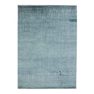 Contemporary Coastal Moroccan Style Rug with Abstract Design, Hampton's Chic