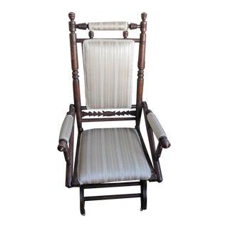 Antique Eastlake Slider Rocking Chair For Sale