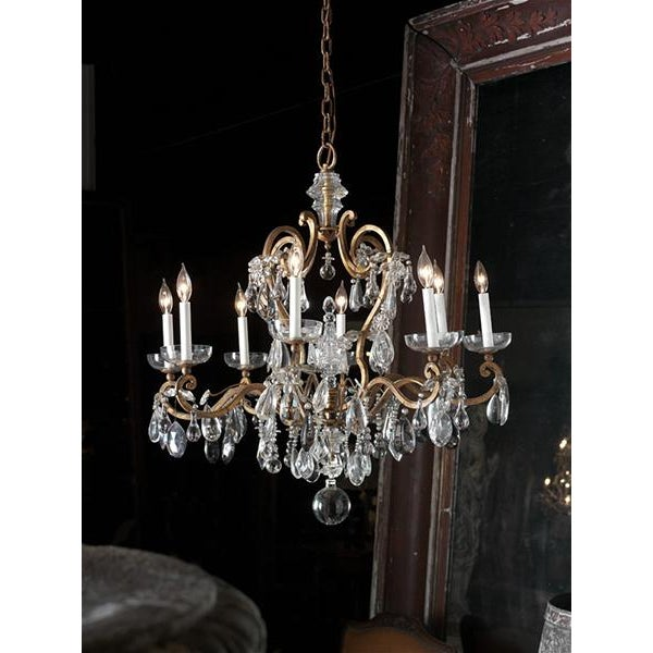French French Baques Crystal Chandelier For Sale - Image 3 of 8