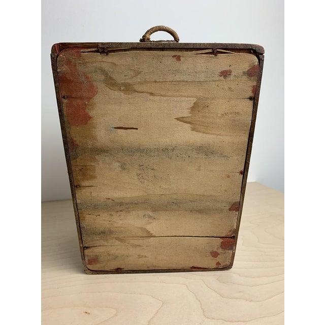 Small Hand Painted Folk Art Wooden Trunk For Sale In Atlanta - Image 6 of 11
