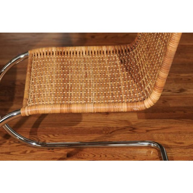 Pristine Set of Eight Italian Wicker Chairs For Sale - Image 4 of 10