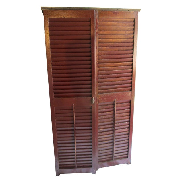 Upcycled Shutter Armoire - Image 1 of 7