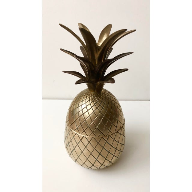 Boho Chic Vintage Brass Pineapple For Sale - Image 3 of 9